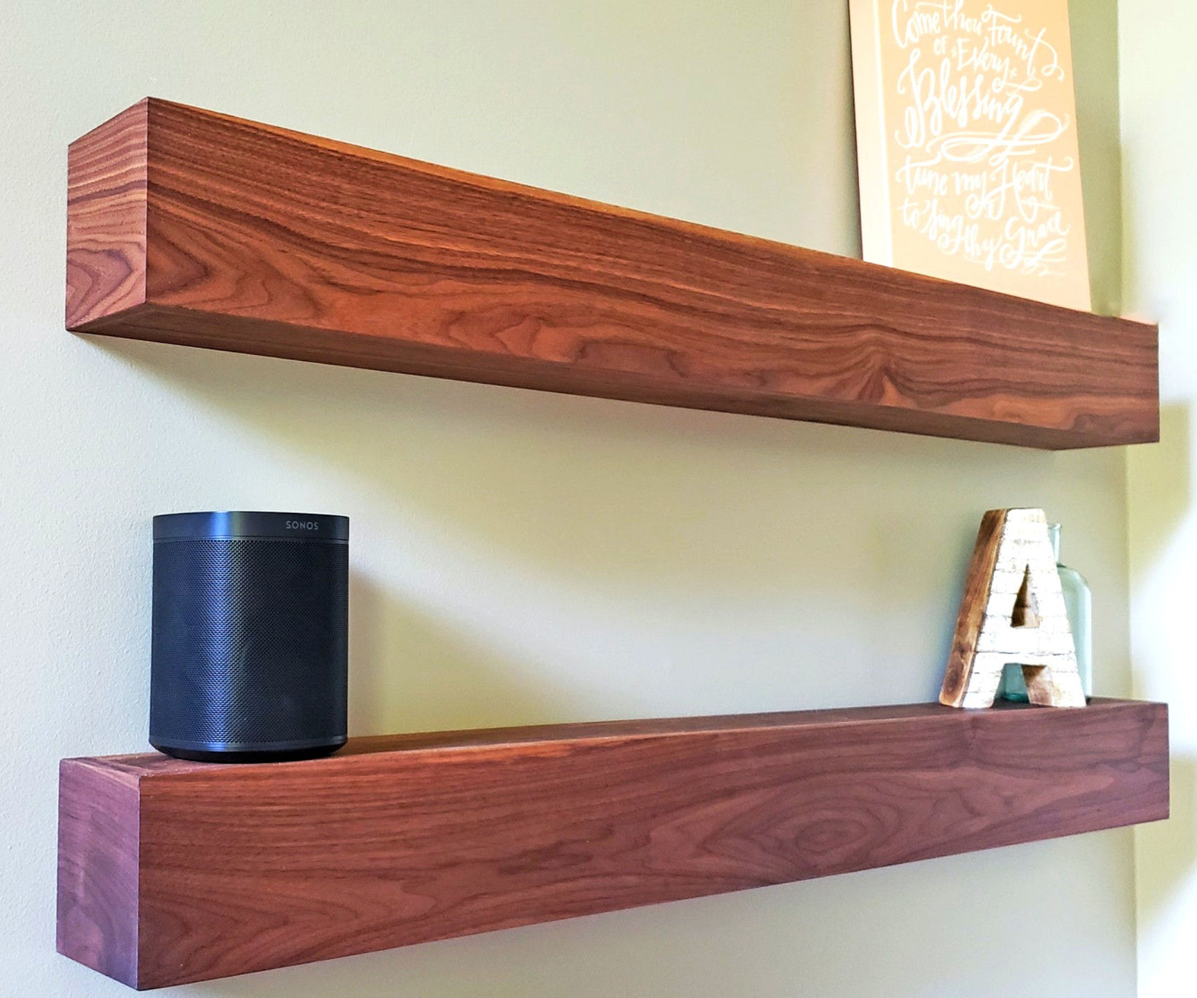 DIY Floating Shelves With Waterfall Ends!