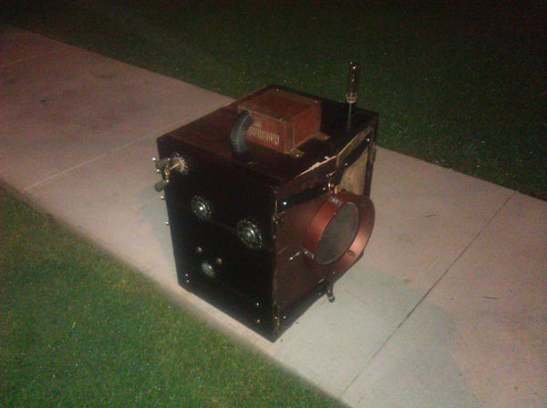 Traveling Steampunk DJ Cabinet