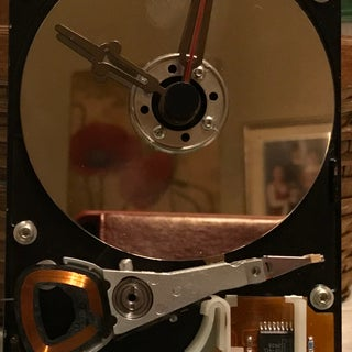 Simple Hard Drive Clock