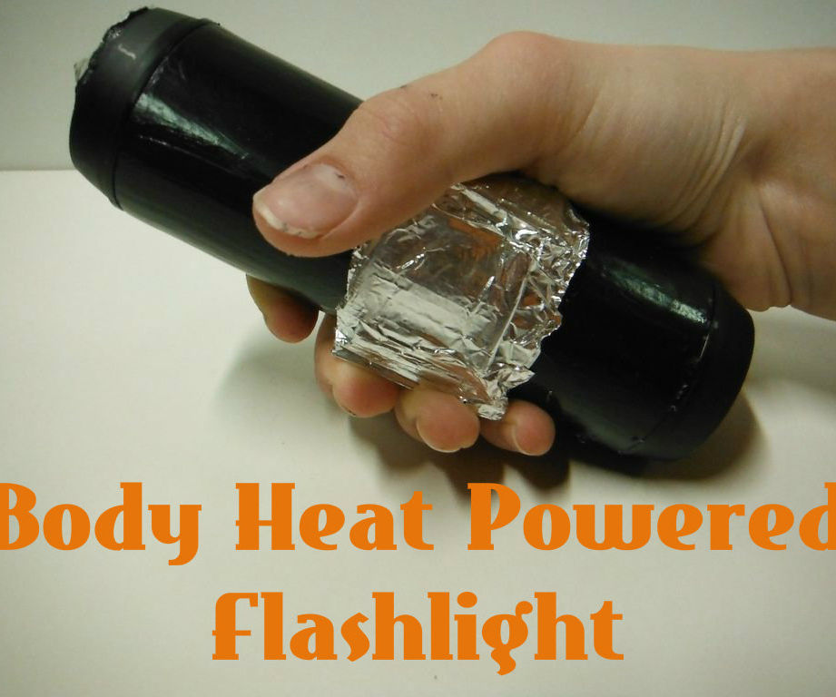 Body Heat Powered Flashlight