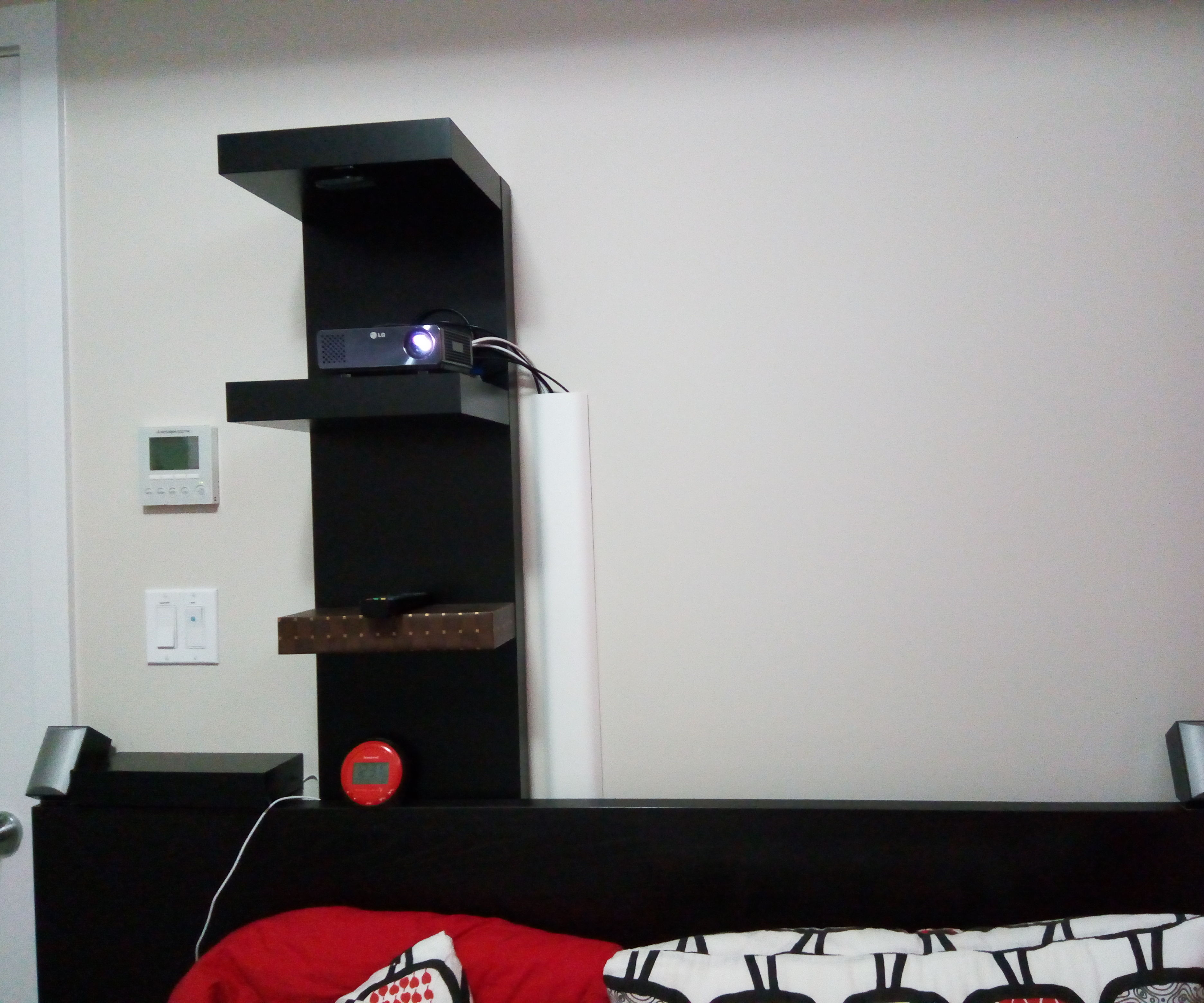 Mount Projector Without Drilling With IKEA LACK Shelf
