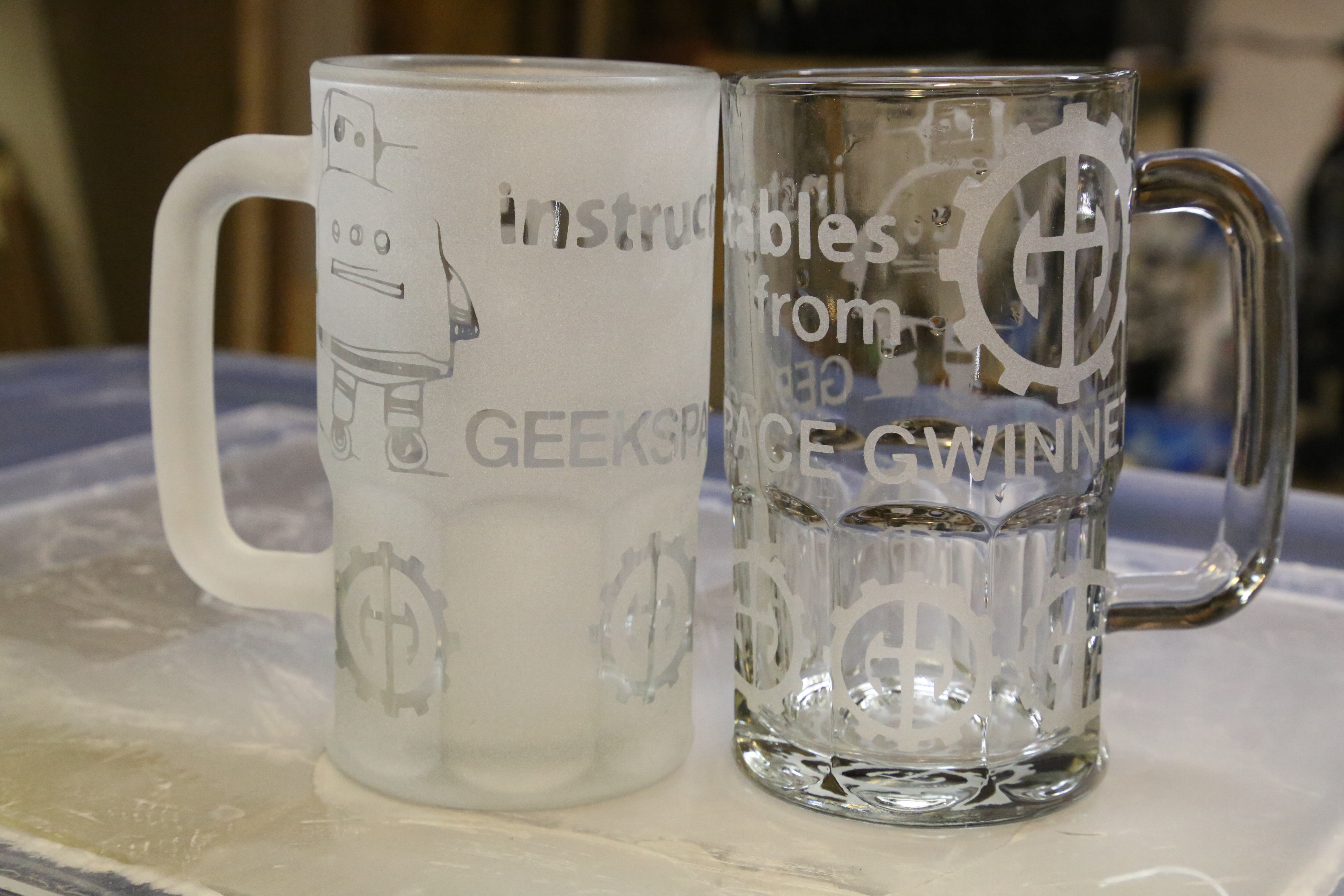 Your Logo And Name On Beer Mug Wine Glasses In An Hour 4 Steps Instructables