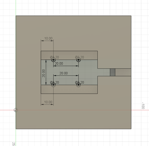 Design Process - Moving Fixture - Mounting Holes