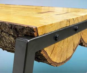 Rustic/Industrial Log Table