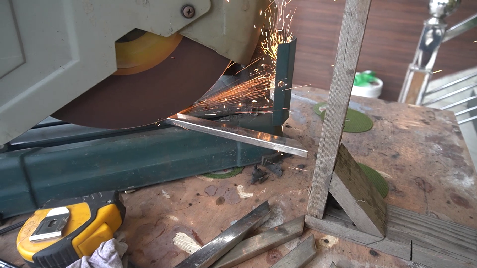 Material Cutting and Welding for the Box Design for the Top.