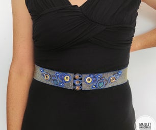 Chic Flower Embroidery Belt