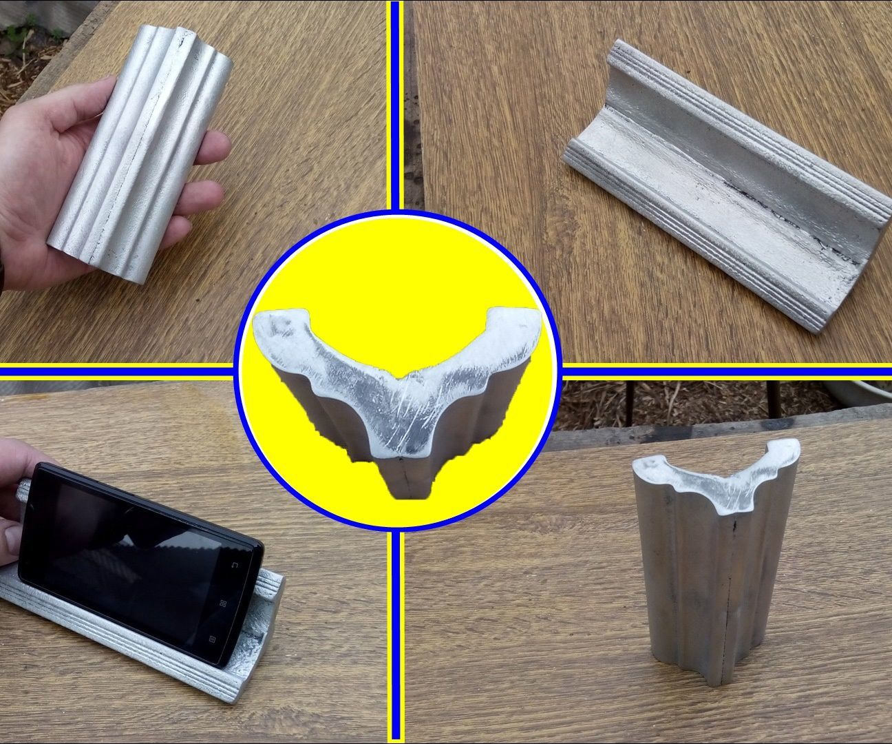 Making a Simple Casted Aluminum Phone Rack