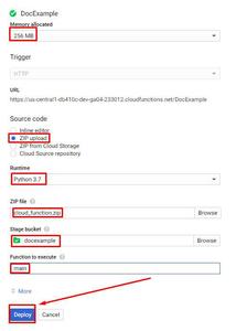 Google Cloud Functions - Function Setup: