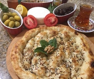 Turkish Thick Flat Bread(Step for Turning to Pizza)