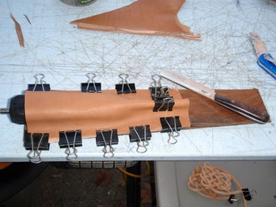 Measuring & Cutting the Leather for the Back