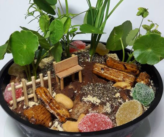 Miniature Garden Ice-Cream Cake