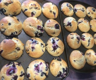 蓝莓巧克力松饼