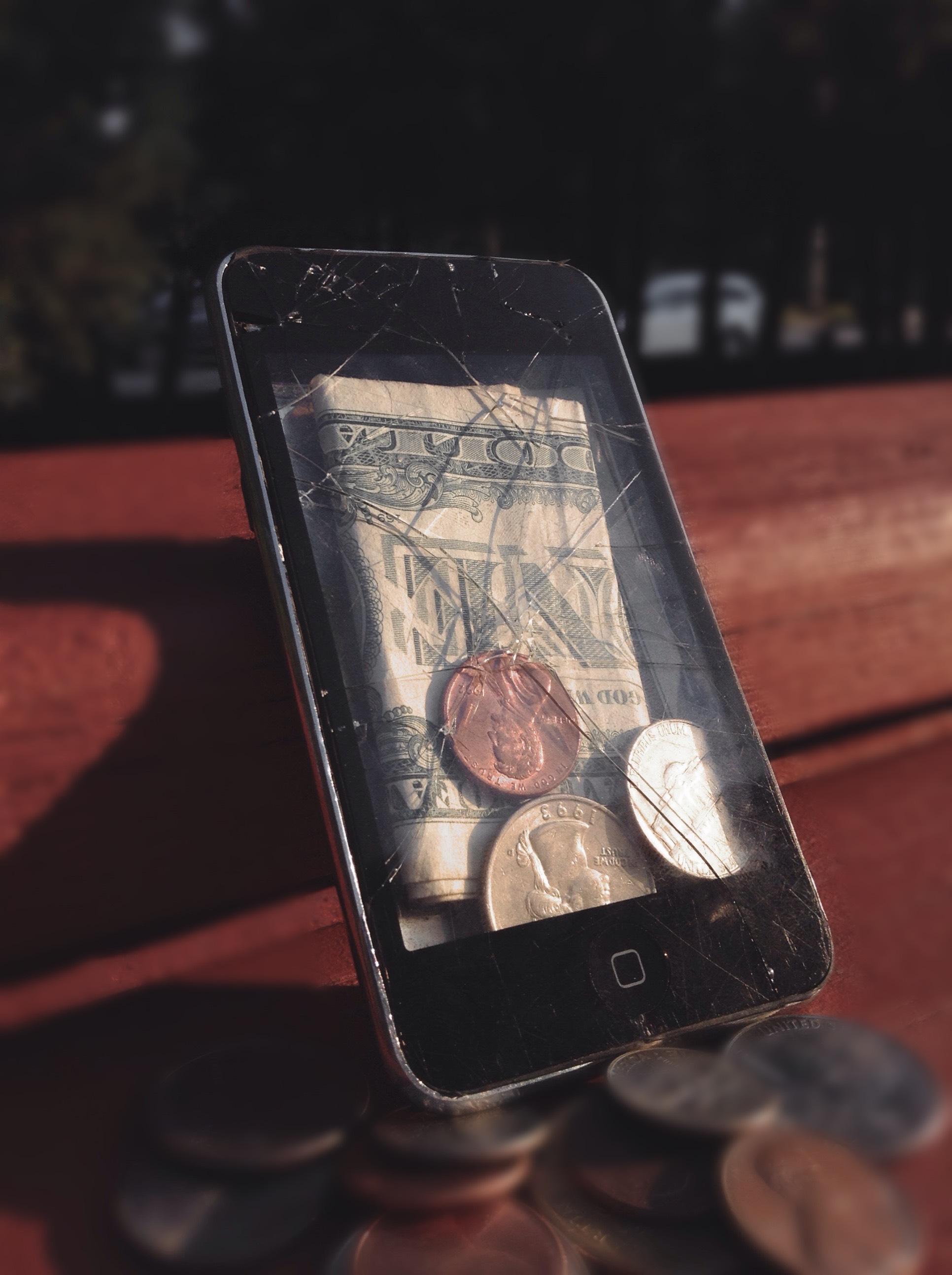 Broken iPod Touch Wallet