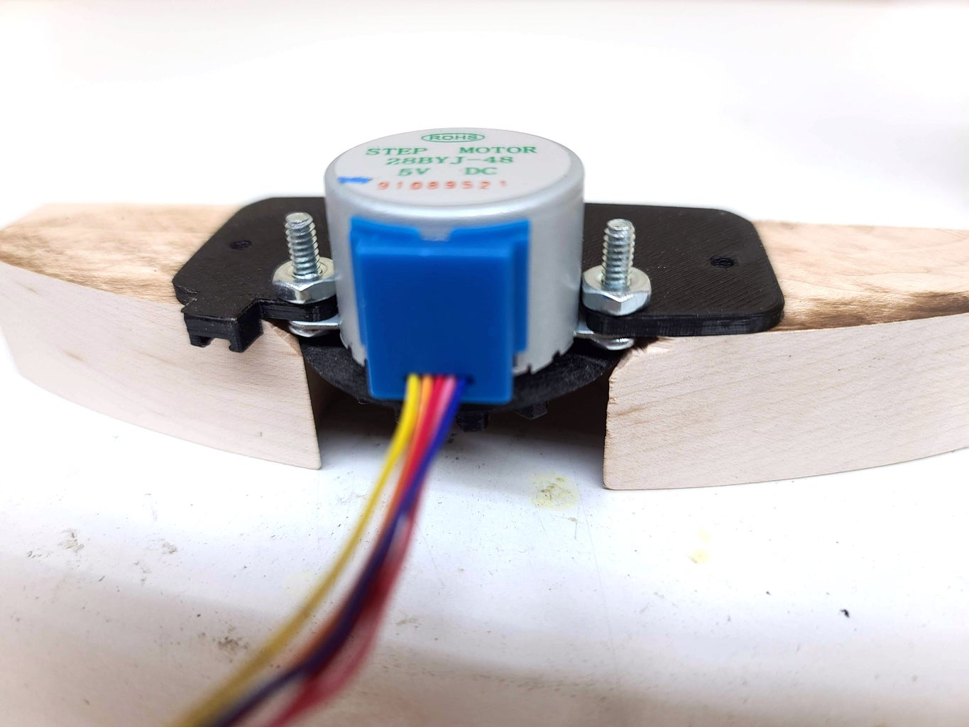 Attach Stepper and Bracket to Support