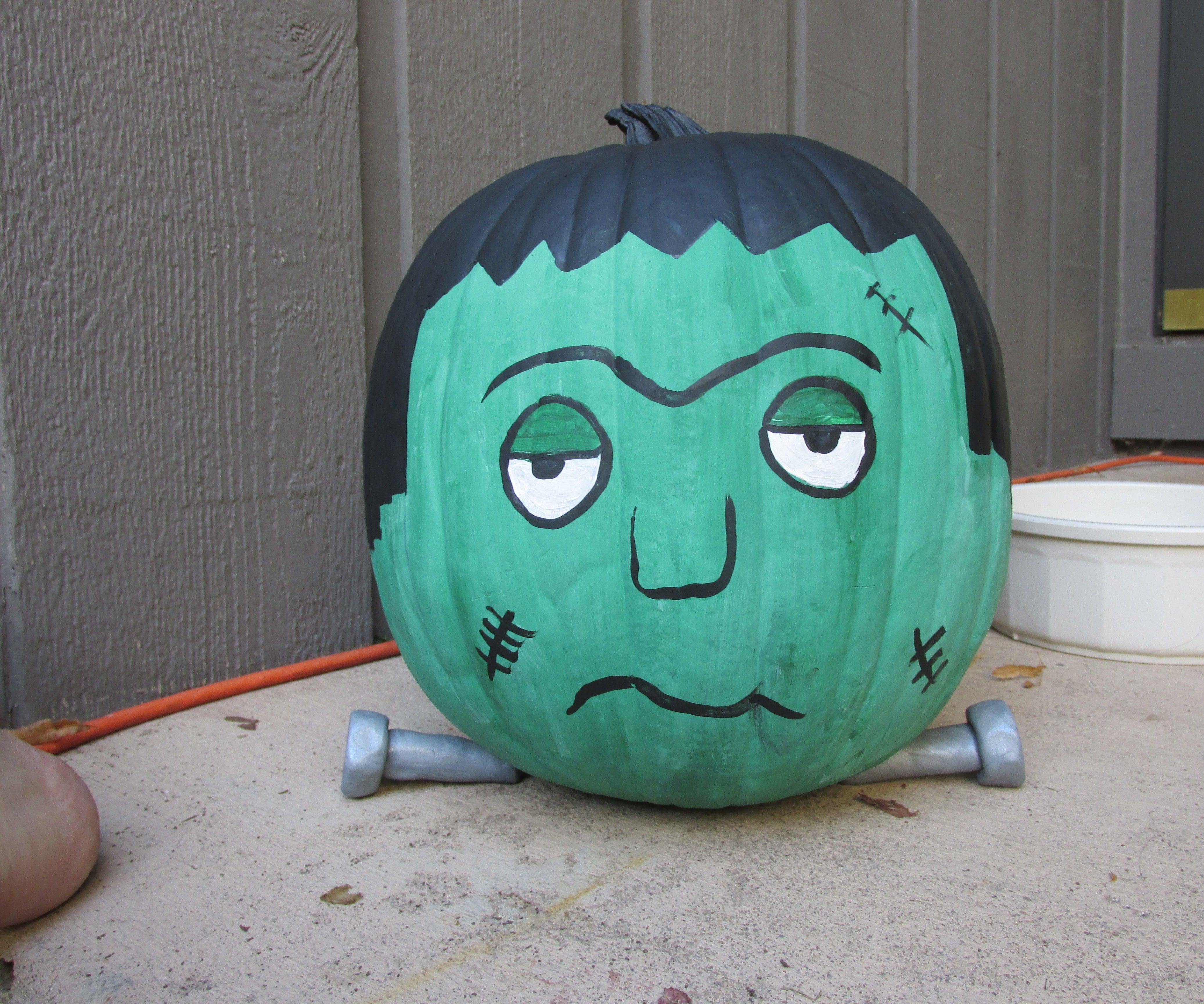 Frankenstein Pumpkin 7 Steps Instructables
