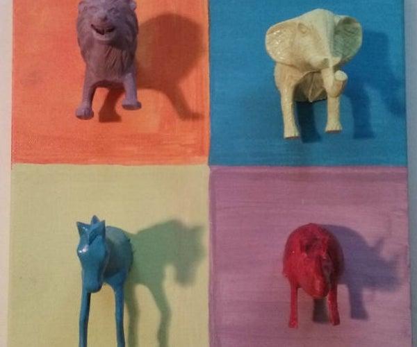 3D Animal Safari Wall Art