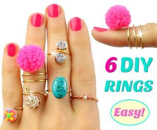 6 DIY Rings   Adjustable & No Special Tools! Easy Rings