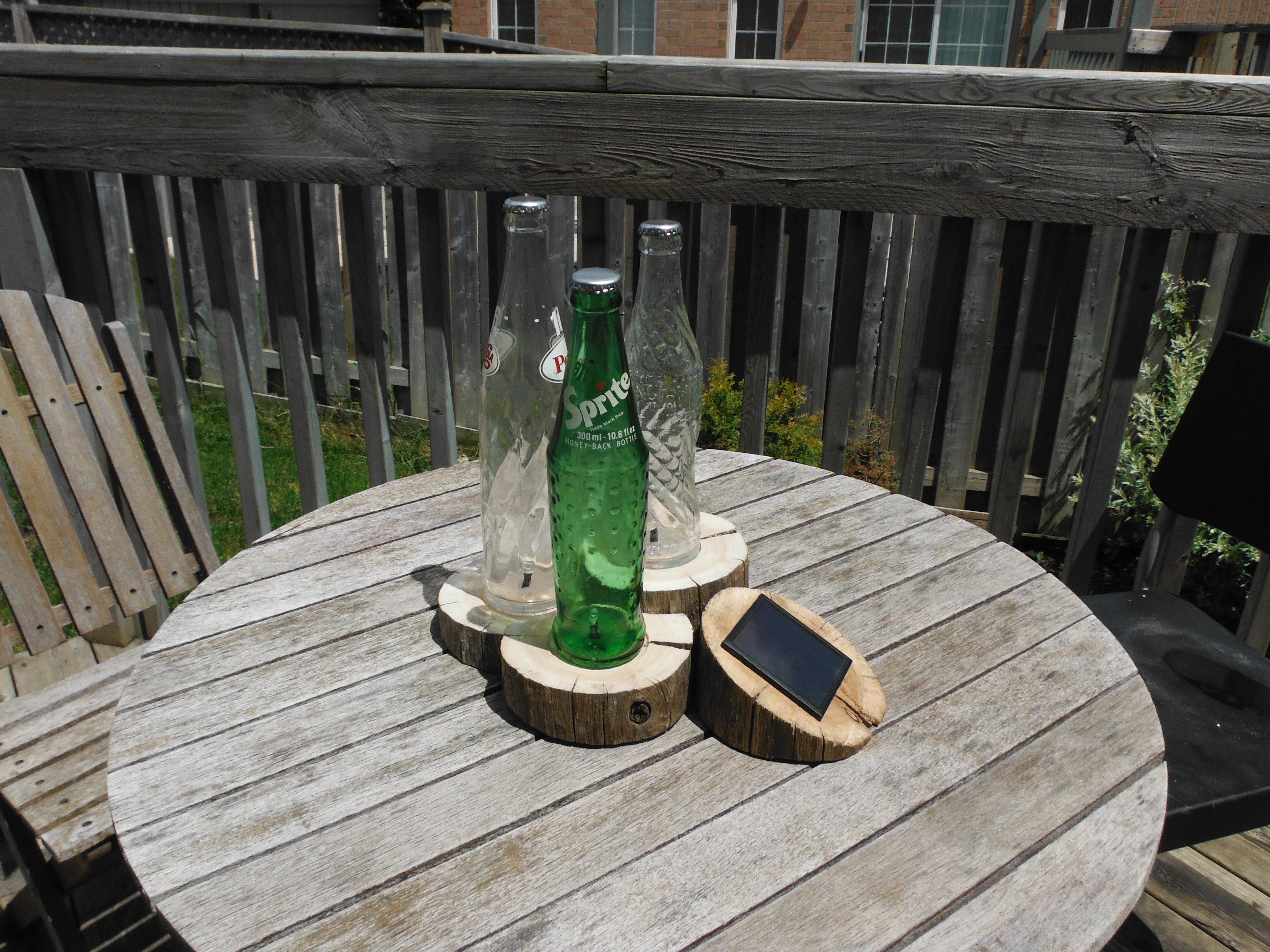 Nature-Themed Solar Bottles