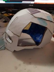 Assemble the Cardboard Skull