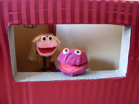 Cardboard Puppet Stage