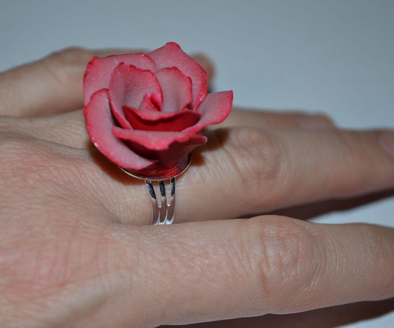 Two-tone Rose Ring