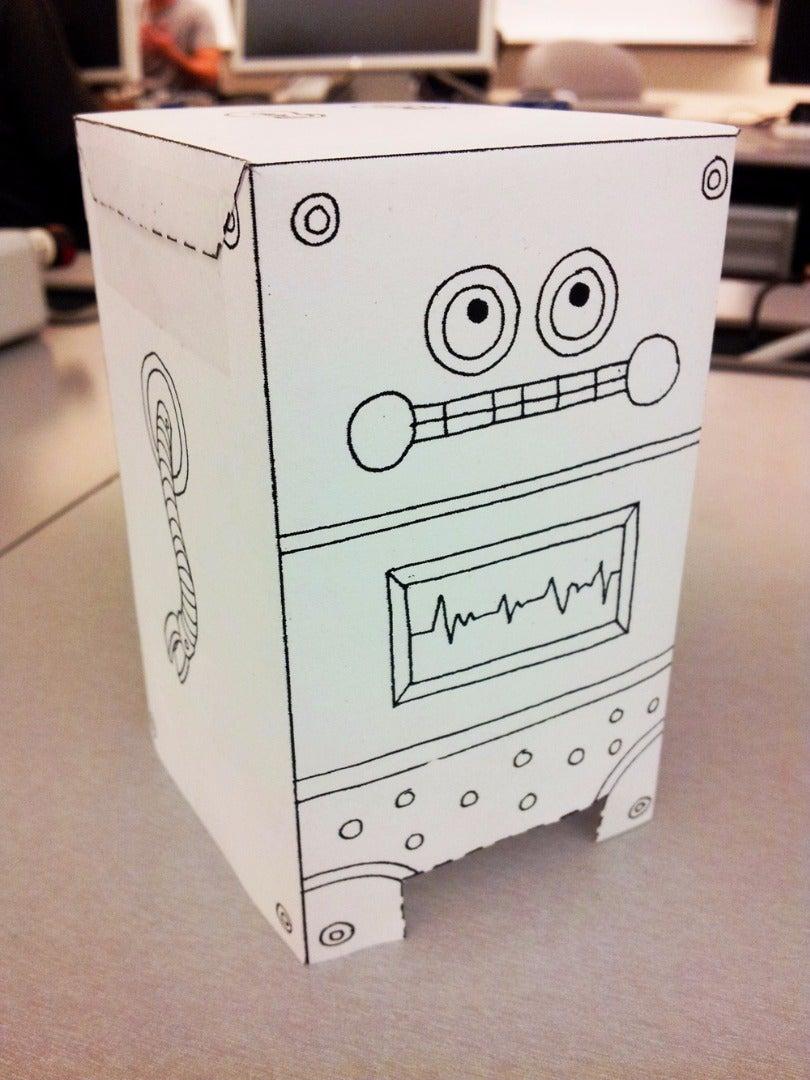 Paper Robot With Polka-dot Underwear