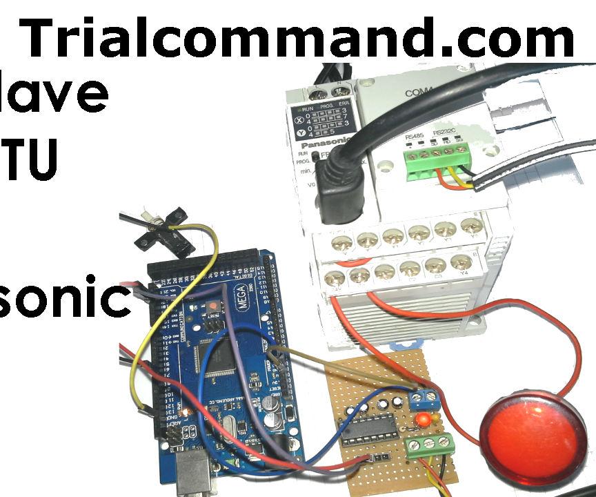Arduino Slave Modbus RTU & PLC Panasonic RS232 Industrial