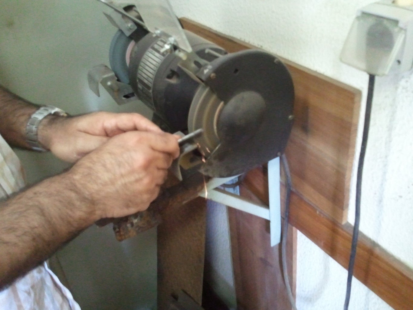 Creating a Metal Tip to Carve the Wood Track for the Marbles