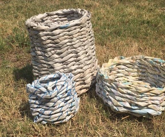 Waste Paper Baskets From Real Waste Paper