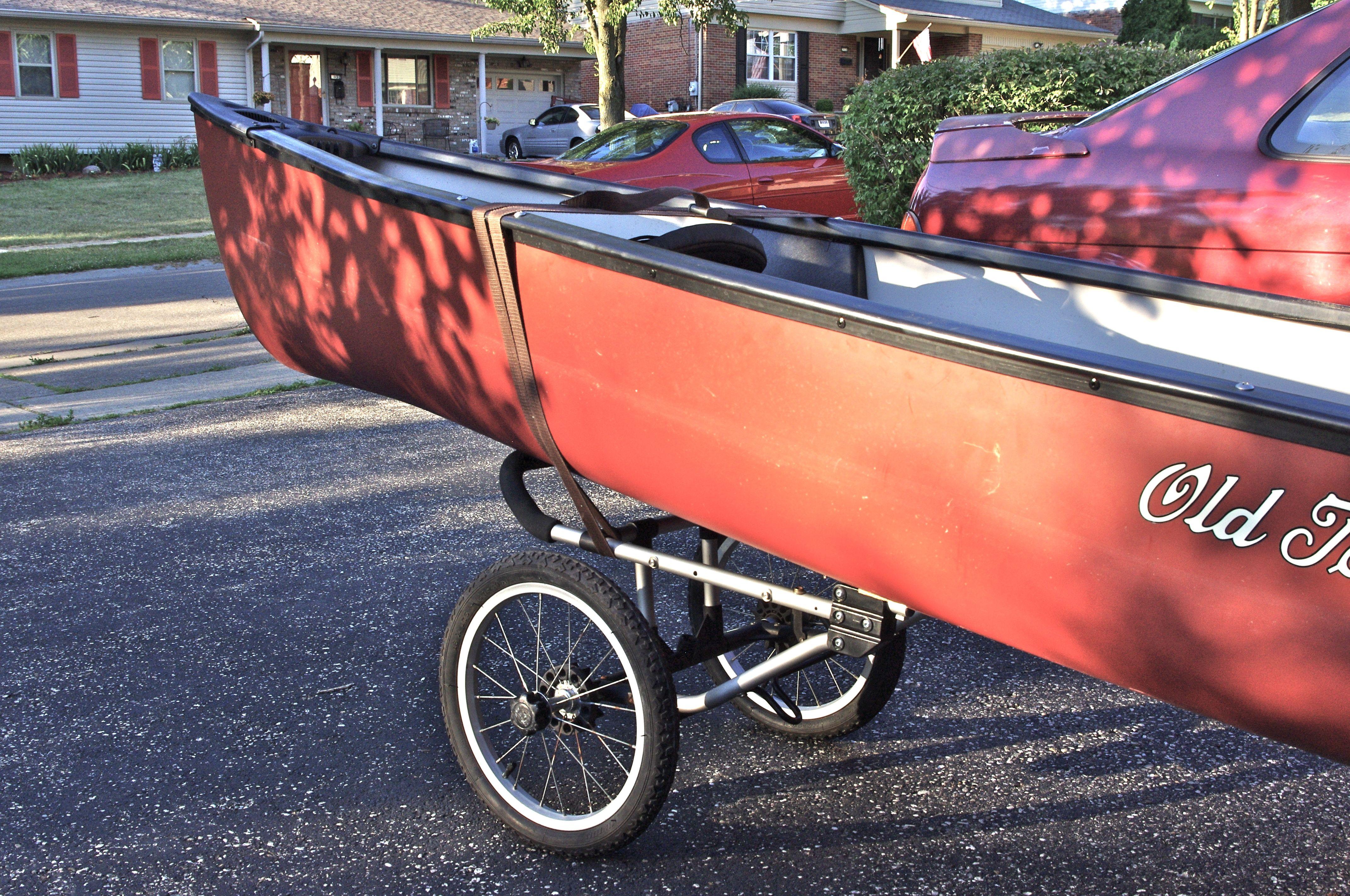 Canoe/Kayak Caddy mod from a Jogging Stroller