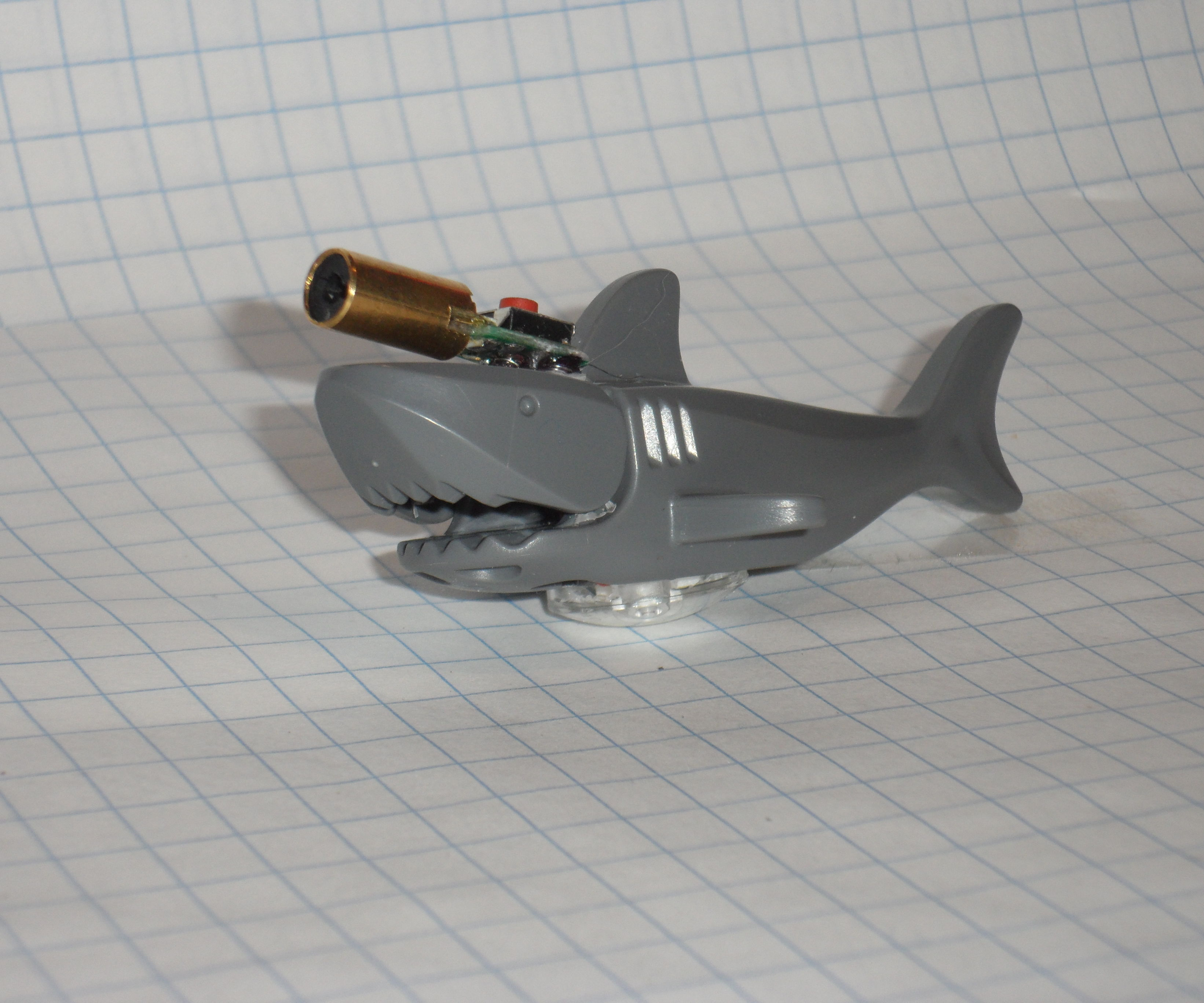 Lego shark with a frickin laser on its head