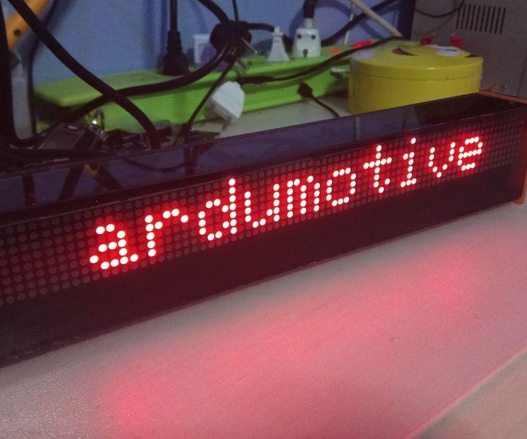DIY Arduino LED Matrix Display - 80x8 Px
