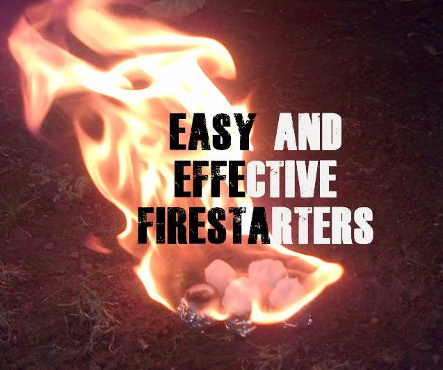 EASY AND EFFECTIVE DIY FIRE STARTERS!