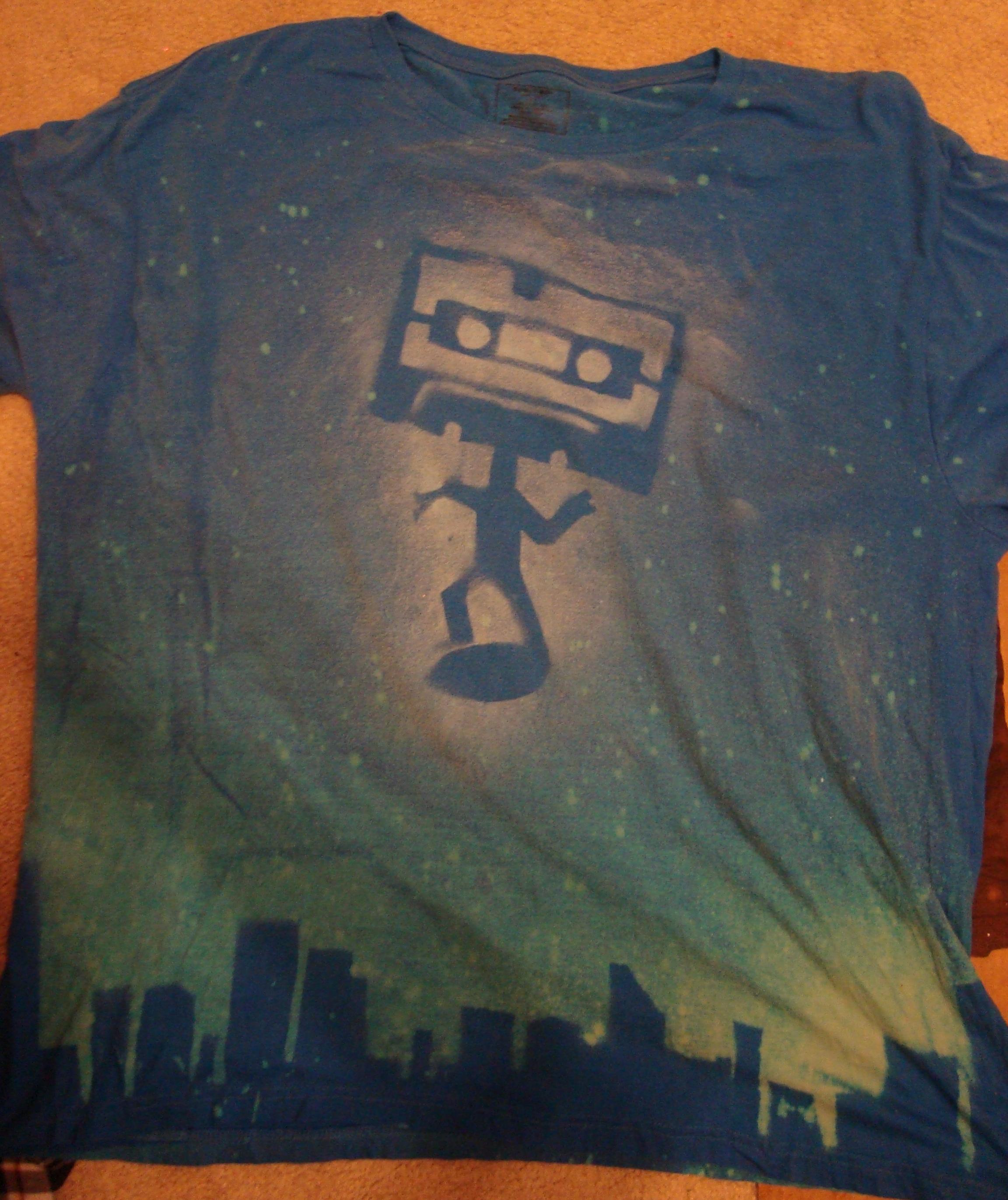 Spray paint+Bleach+T-shirts=Fun times
