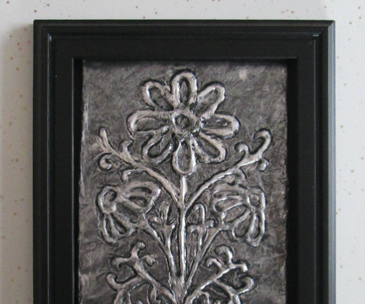 How to Make Embossed Metal-looking Tinfoil Art