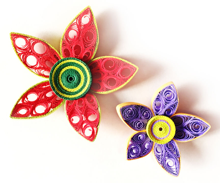 DIY Paper Quilled Flower for Decoration | Paper Quilling Art