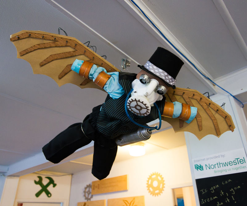 Steampunk Aviator Decorations