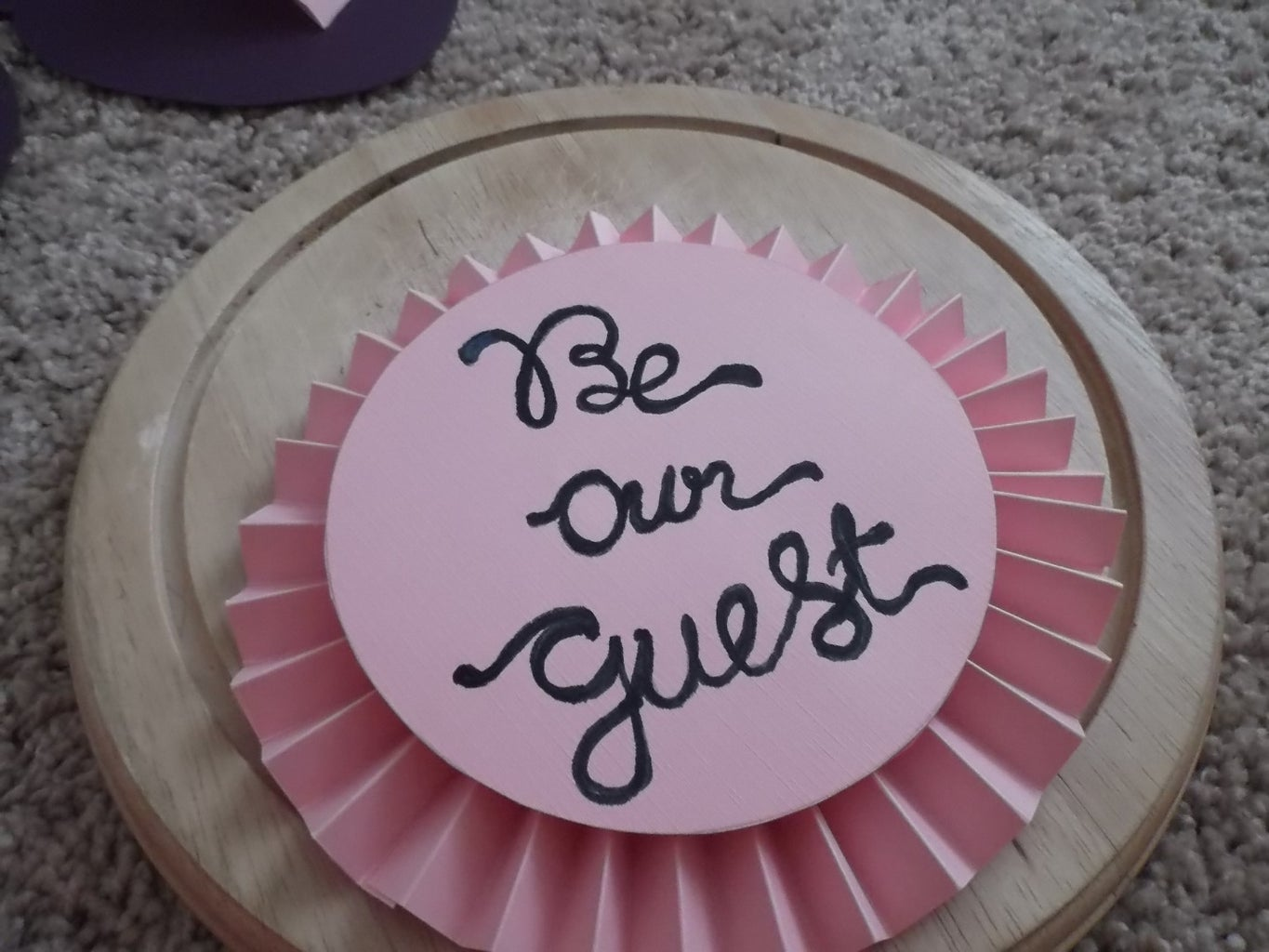 Be Our Guest Wedding Guest Sign Garland