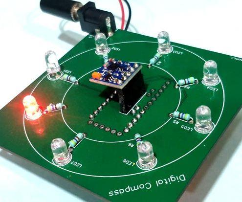 Digital Compass Using Arduino and HMC5883L Magnetometer