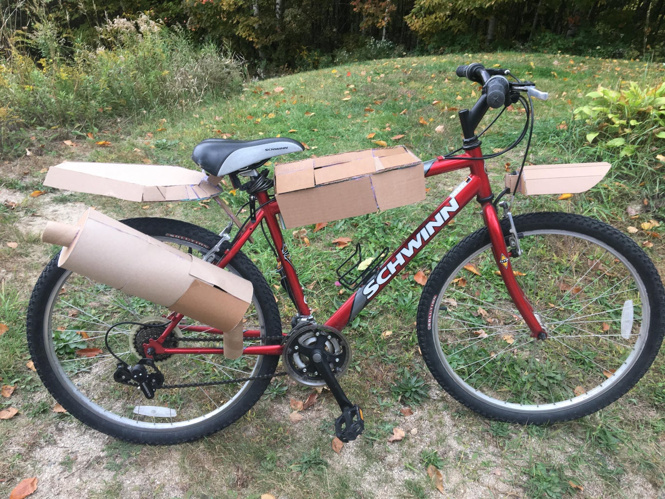 Convert Your Bike to a Cardboard Motorcycle