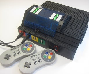 Lego + Sugru Panel Mount Connectors (with RetroPie Case As Example)