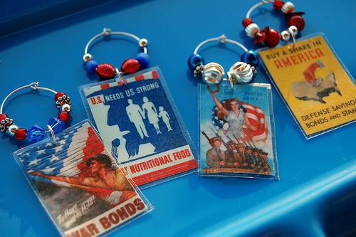 Patriotic Poster Drink Charms