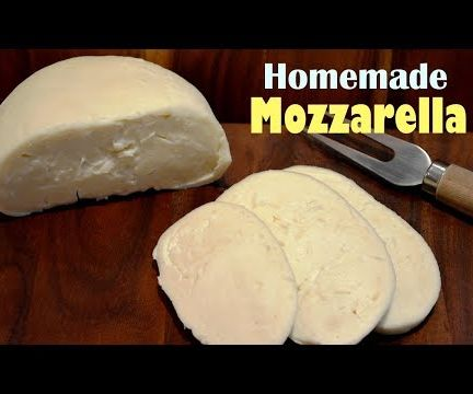 How to Make Mozzarella Cheese at Home - Simple Homemade Mozzarella Recipe