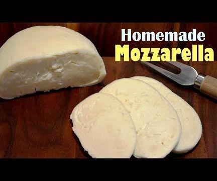 How to Make Mozzarella Cheese at Home - Simple Homemade Mozzarella Recipe