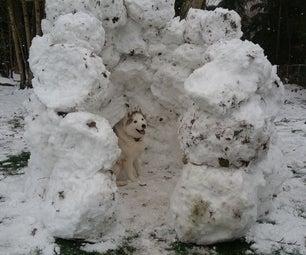 DIY狗雪堡