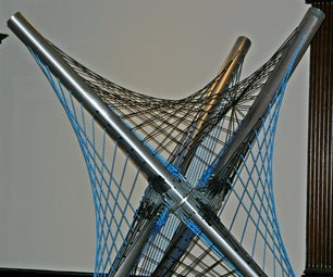 Rope and Sound Interactive Tensegrity Sculpture