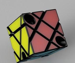 向Rubik的立方体添加另一个维度(在Tinkercad设计)