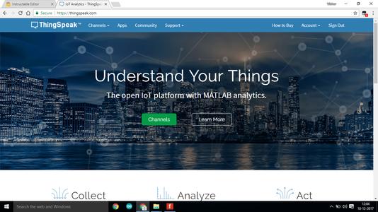 Making Account on Thingspeak.com