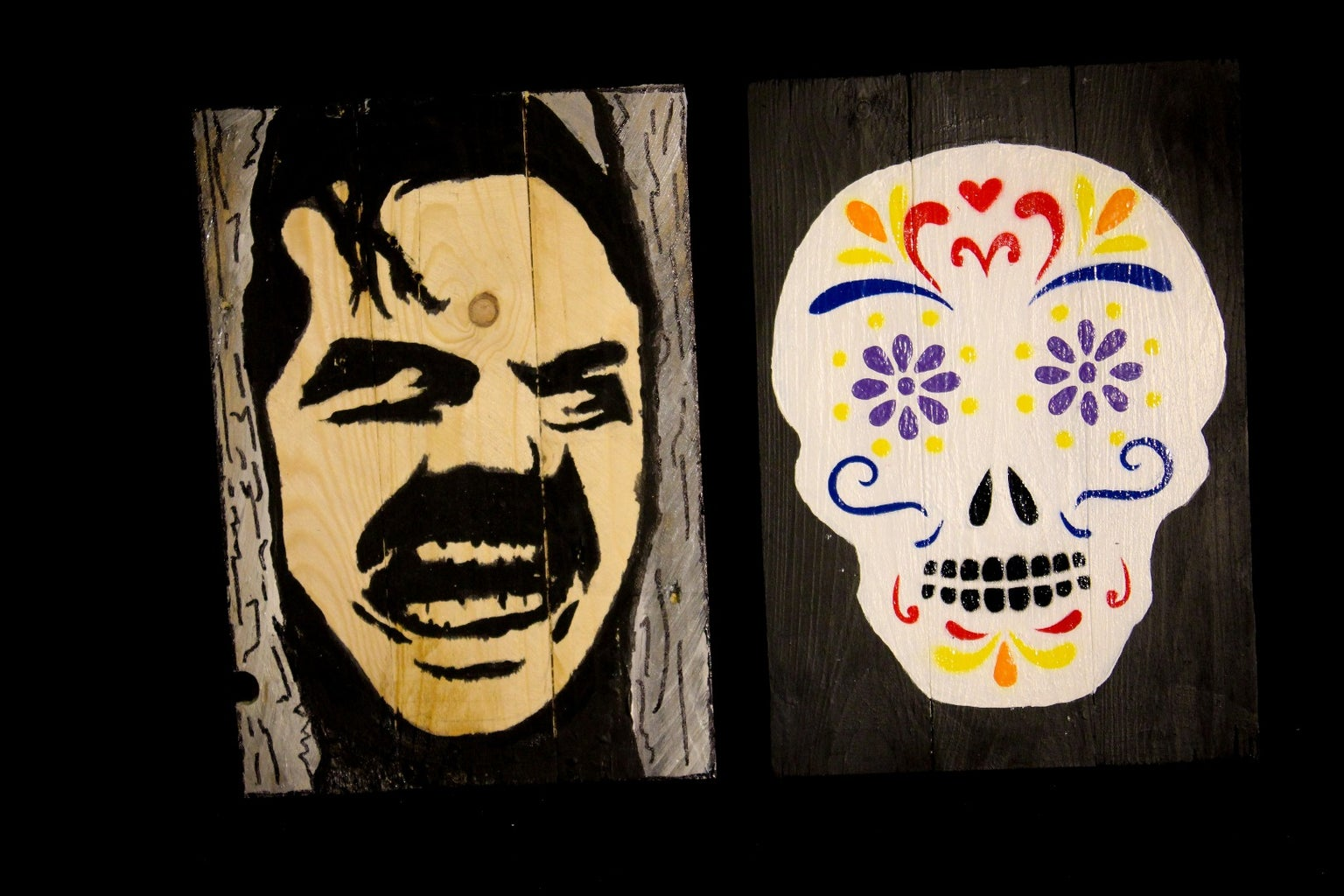 Scary Pallet Paintings