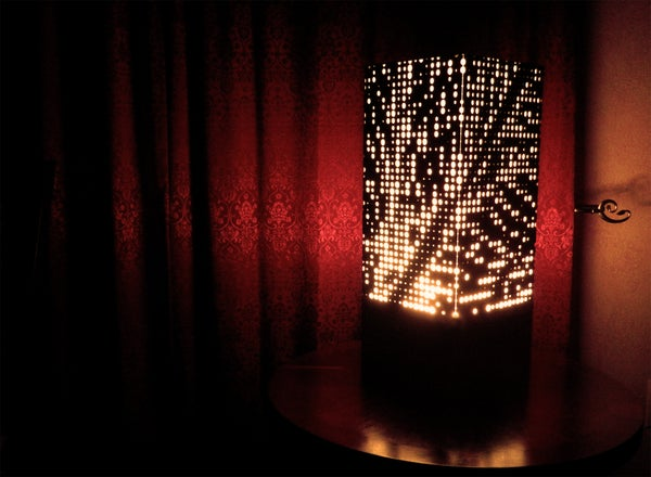 DIY Circle Map Lamp From Scratch